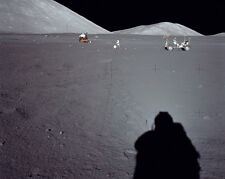 Apollo 17 Distant Blick auf Rover und Lm 8x10 Silber Halogen Fotodruck