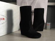 PRADA Women's Real Leather Boots  Sz : US 6,5 ( EU 36,5 )   NEW