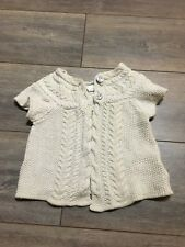 H&M Girls Cardigan beige with sparkly gold thread Size 2 Years (euro 92)