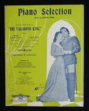 VAGABOND KING 1956 Australian sheet music piano selection Kathryn Grayson Oreste