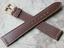vintage watch band stitched & unpadded Long Length 1960s Genuine Leather 18mm