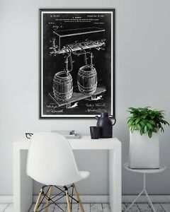 """1897 BEER TAP Patent POSTER! (up to 24"""" x 36"""") - Soda Fountain - Brewery - Bar"""