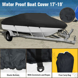 17-19 ft Trailerable Boat Cover Waterproof V-Hull 95'' Beam Durable Fabric GBT2B