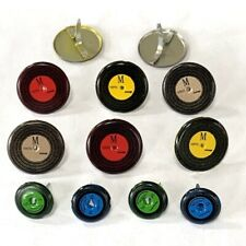 RECORD BRADS  *  EYELET OUTLET *  8 PCS 33'S & 45'S  MUSIC, ROCK & ROLL