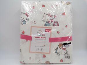 Pottery Barn Kids Hello Kitty Organic Sheet Set & Pillowcase Blush Twin #H223