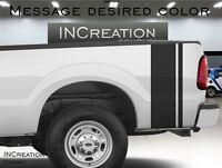Vinyl Racing Graphics For Raptor Truck Plain Stripes Decals rear bed Sticker Fx4