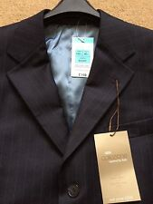 "M&S Men's Collezione Italian Pure Wool Jacket, Navy Blue, Chest 40"" Short, £140"