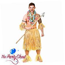 5 PIECE HAWAIIAN PARTY GUY COSTUME Zulu Warrior Straw Native Tribe Fancy Dress