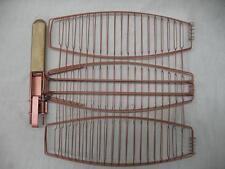 Char-Broil BBQ Tool Accessory Non Stick Triple Fish Grill Basket Copper