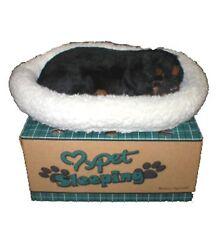 Realistic Lifelike breathing pet sleeping dog Rottweiler Holiday gift New