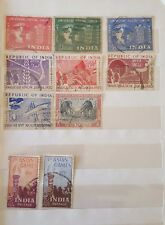 Nice collection of 10 diff.Indian used  Postage stamps issued in 1949