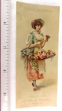 Lovely Colgate & Co's Cashmere Bouquet Perfume Floral Bookmark Trade Card F49