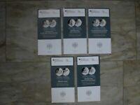 5 x Original VfS Flyer 2015 Zertifikate 10 Euro Silber Gedenkmünzen Komplettset