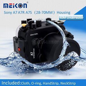 Meikon 40M Waterproof Underwater Housing Case for Sony A7 A7S A7R 28-70mm