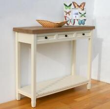 Painted Wood Shabby Chic Hall Console Table with 3 Drawer and a Shelf PR-CNS