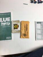 CLUE Detective Board Game 2002 Replacement Cards Pieces Instructions