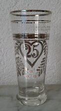 altes Glas Bierglas Saftglas Dem Silberbräutigam Emaillemalerei Jugendstil 5/20L