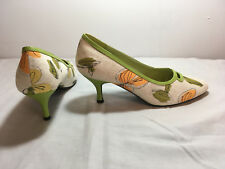 Jessica Shoes Style-Linetta Pumps Light Green,Muted Orange SZ 9M New in Box