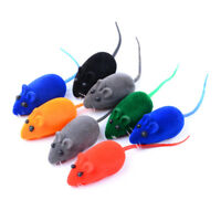 2X Funny Rat Playing Toy Cute Mouse Squeak Sound For Cat Kitten Pet Play Toys