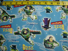 2 Yards + Disney Pixar Buzz Lightycar 100% Cotton Duct Cloth Children Fabric