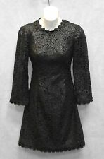 NWT KATE SPADE All That Glitters Black Lace Quinn Dress Size 00 $498
