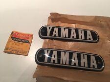 337-24161-10 pair NOS Yamaha As3 Rd 125 Cs5 Cs5e cs3 200 Logo tank emblem