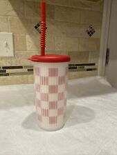 New listing Vintage rare tupperware tumbler with lid and straw 3329A-1
