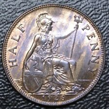 1928 GREAT BRITAIN - HALF PENNY - BRONZE - George V - Nice LUSTRE - HIGH GRADE