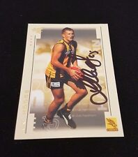 HAWTHORN HAWKS - LUKE HODGE SIGNED AFL SELECT 2003 XL COMMON CARD - ROOKIE CARD