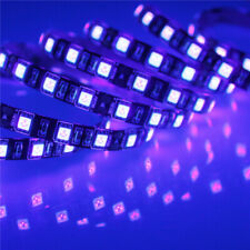 UV Ultra Violet 300 LED Strip Light 5050 SMD DC 12V 5M 60 LED / Meter Black PCB