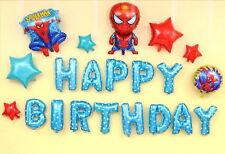 Party Decoration Foil Balloons Spiderman  Happy Birthday Party Set