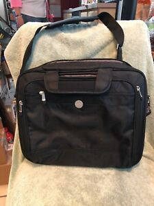 """DELL Laptop Case for a 15.6"""" PC or smaller with shoulder strap, black canvas NEW"""