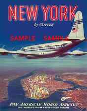 "Pan American Air Lines 8.5"" X 11"" Travel Poster  - [ NEW YORK ]  -"