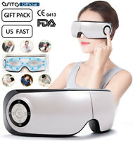 Electric Bluetooth Eye Care Massager Hot Compress Rechargeable For Dark Circles
