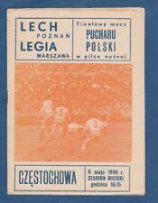 Orig. PRG Pologne CUP 1979/80 finale Legia Varsovie-LECH POZNAN!!! RARE
