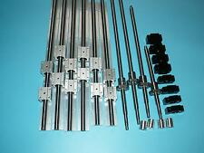 3set linear rail SBR16-500/1000/1500mm+4 ballscrew RM1605+BKBF12 end bearing CNC