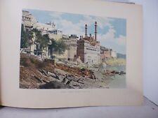 Inde : Gravure 19° in folio couleur / Benarès. Mosquée d'Aureng Zeb