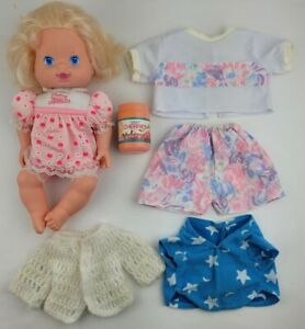 Vintage 1991 Baby All Gone Doll Baby Cherries Jar Outfit Sweater Shirt