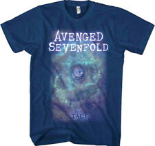 Avenged Sevenfold-Space Face-X-Large Navy Blue T-shirt