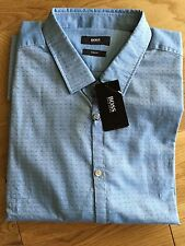 HUGO BOSS Men's Collared Long Sleeve Fitted Casual Shirts & Tops