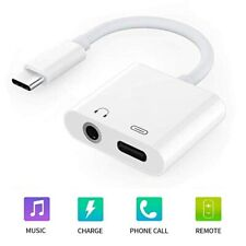 USB Type C to 3.5mm AUX Headphone Charger Adapter For S10 S20 Ultra Plus Note10