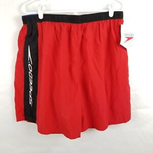 Speedo Swim Trunks Shorts Mesh Red XL
