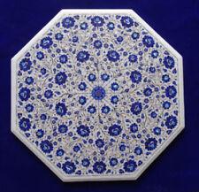 "30"" Marble Table Top Pietra Dura Lapis Floral worInlay Handicraft Home Decor"