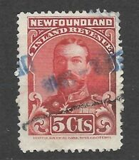 CANADA  Van Dam NFR 16 Newfoundland 1910 King George V Revenue Stamp - Used