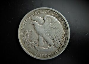 USA  SILVER WALKING LIBERTY 1/2 DOLLAR 1945 S  / SNIFF'S  ANCIENT COINS T-8