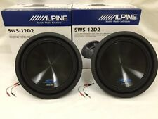 """(2) SWS-12D2 ALPINE 12"""" SUB DUAL 2-OHM TYPE-S 1500W MAX CAR SUBWOOFER SPEAKER"""