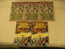 DEATH RATTLE COMICS 1987 #13 & 1995 #1 LOT OF 5 VERY GOOD