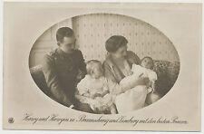 AK Herzog und Herzogin zu Braunschweig mit beiden Prinzen (E421)