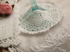 6 Set-12pcs(Doily+Goblet Cover) -Vintage Crochet Lace Doily Rose HAND Made-White
