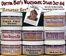 Weathering Stain Set #4-Doctor Ben's READY-TO-USE / CONTEST PROVEN! HOn3/HOn30